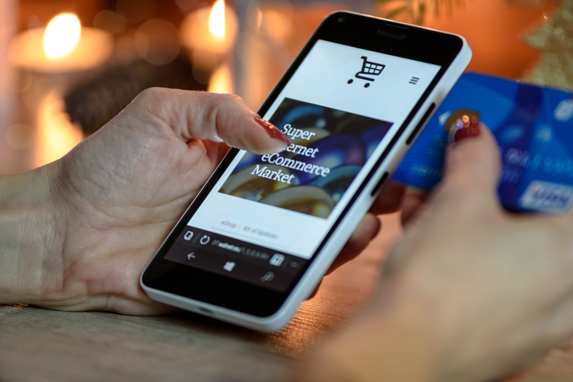 ecommerce on mobile phone