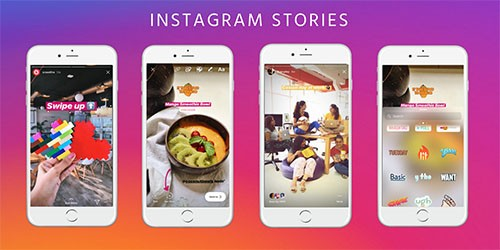 instagram stories via crowdfireapp.com