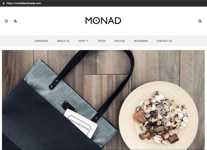 monad handmade homepage