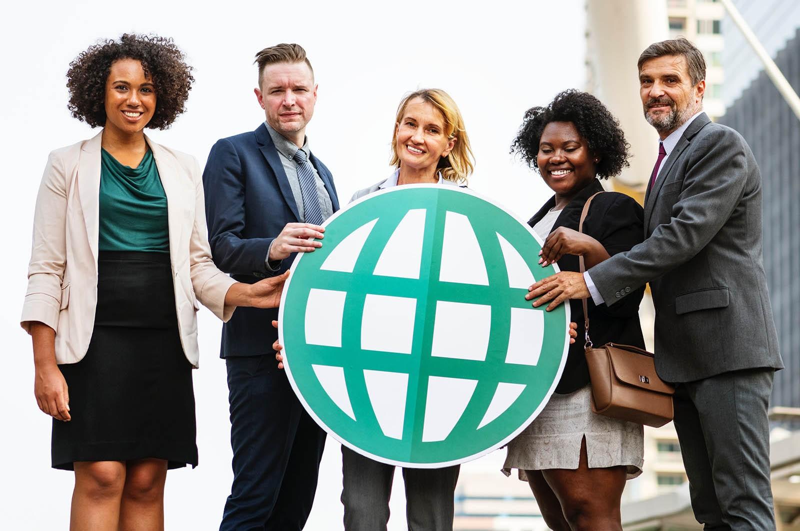 people holding a web cartoon